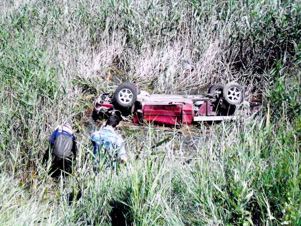 ВРостовской области ВАЗ-2114 упал вреку, умер шофёр