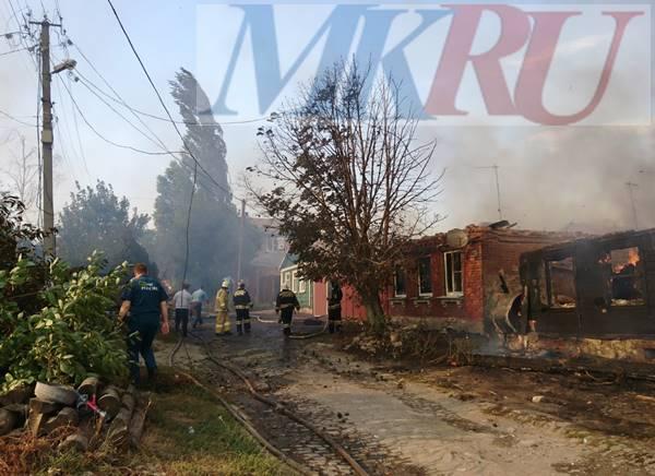 ВНовочеркасске пылают жилые дома наулице Крупской